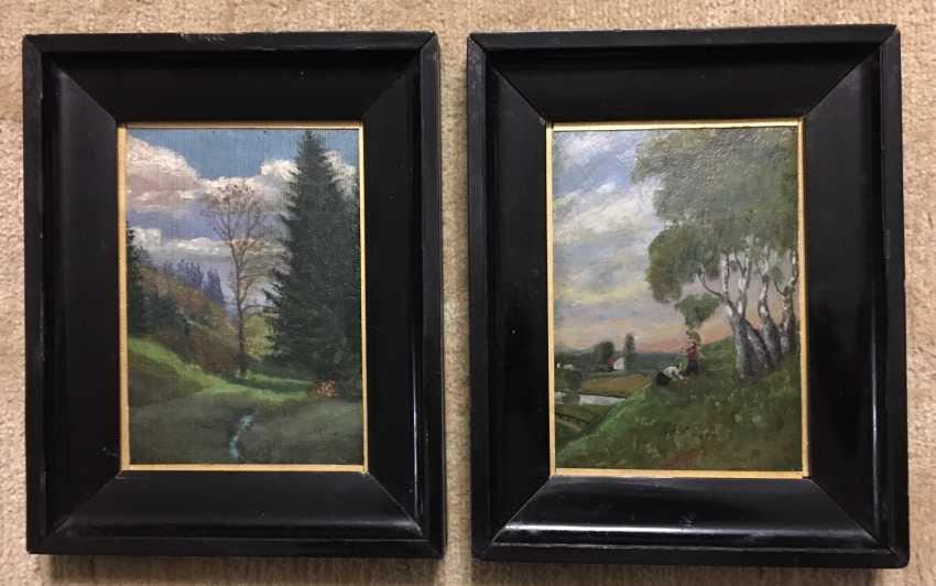 Hans Gräper. Pair of paintings, 1912 - photo 1