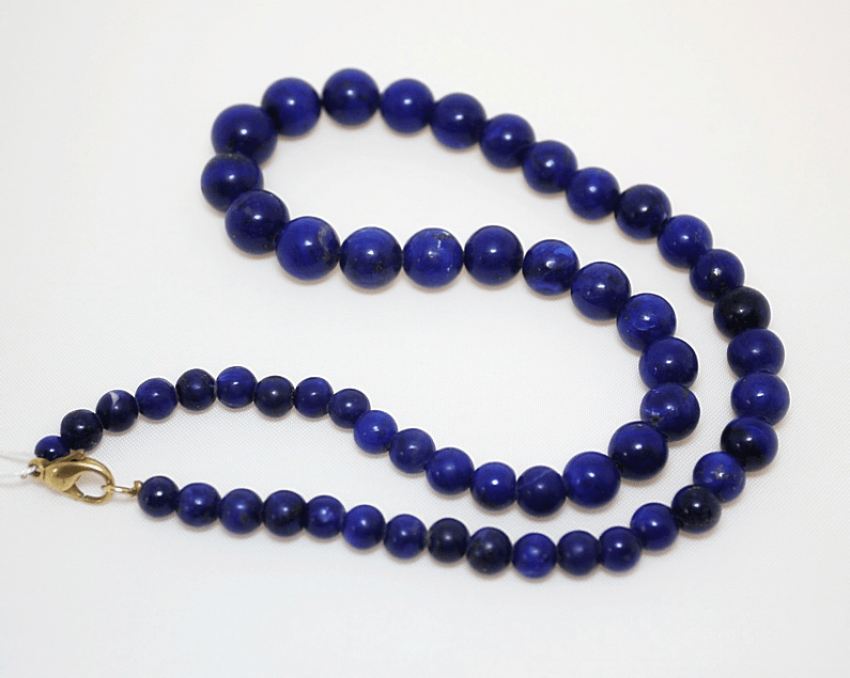 The beads of lapis lazuli - photo 1