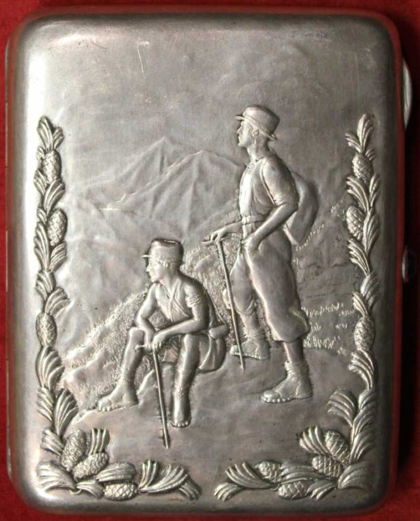 """Cigarette case with embossed image of """"GEOLOGISTS - photo 1"""