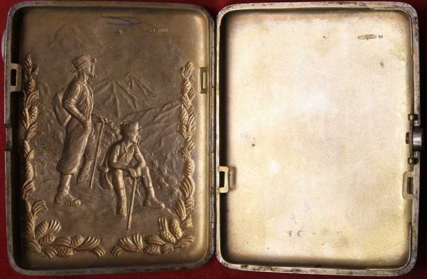 """Cigarette case with embossed image of """"GEOLOGISTS - photo 3"""