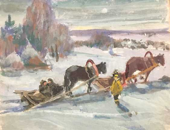 "Rozhkov V. Z. ""Oh, You, sleigh..."", twentieth century - photo 1"