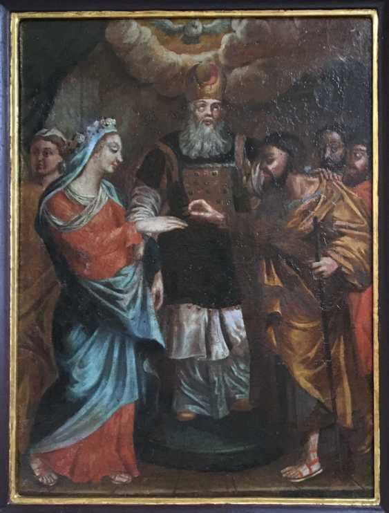 """""""The Betrothal Of The Virgin Mary"""". Moscow, XVIII century - photo 1"""