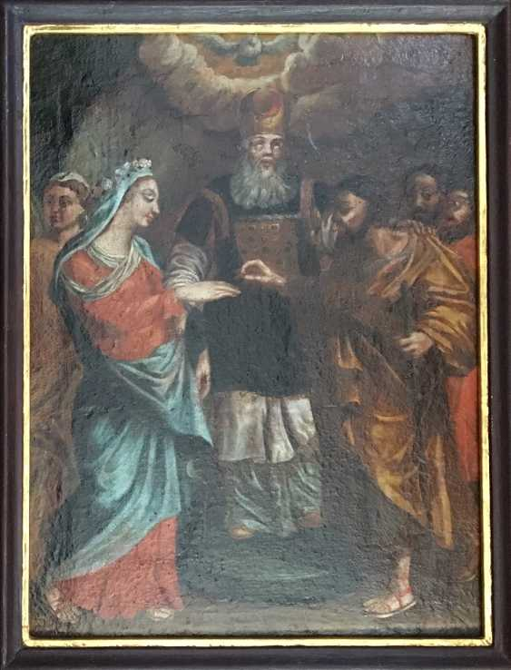 """""""The Betrothal Of The Virgin Mary"""". Moscow, XVIII century - photo 3"""