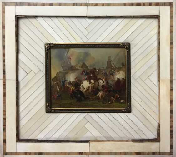 "Miniature ""Battle scene"", XX century. - photo 1"