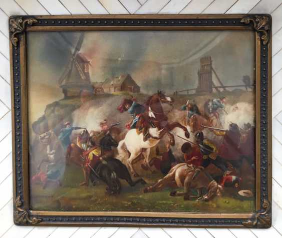 "Miniature ""Battle scene"", XX century. - photo 3"