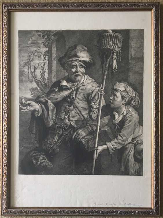 """Engraving of """"the pied Piper"""", XX century. - photo 1"""
