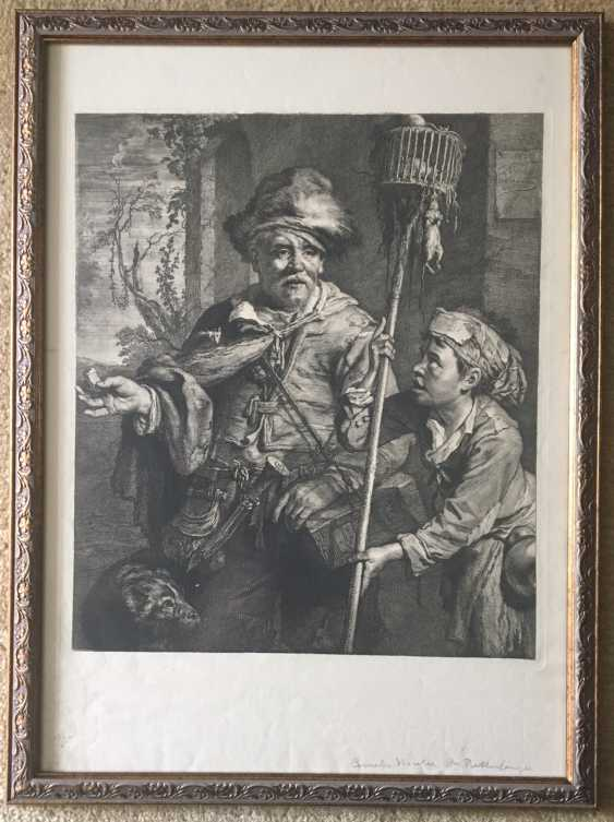 """Engraving of """"the pied Piper"""", XX century. - photo 2"""