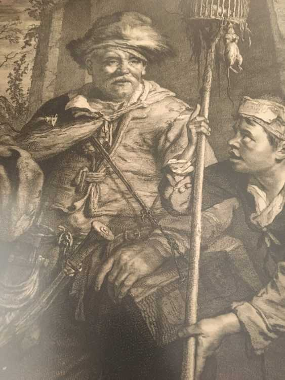 """Engraving of """"the pied Piper"""", XX century. - photo 3"""