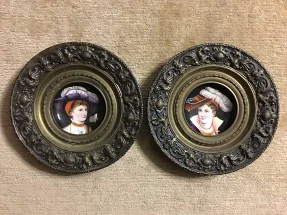 Pair of porcelain dishes in bronze, XIX - n. XX centuries. - photo 1