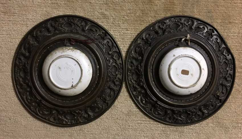 Pair of porcelain dishes in bronze, XIX - n. XX centuries. - photo 2