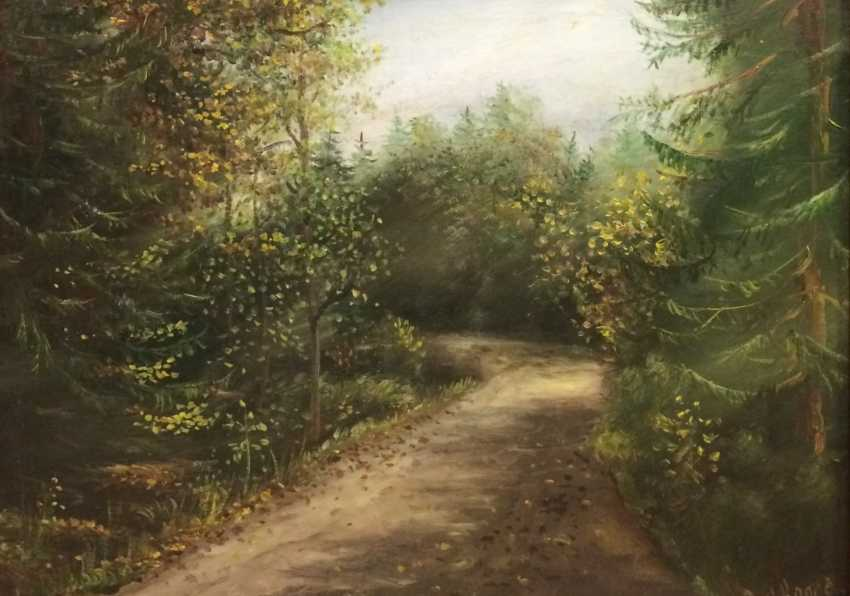 "Ear, S. ""Forest road"", XX century. - photo 1"