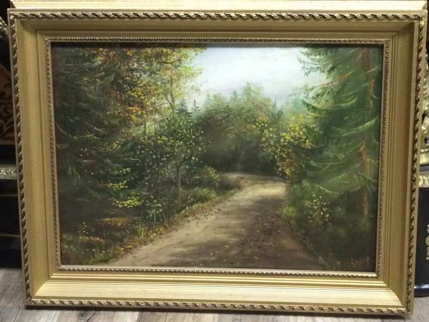"Ear, S. ""Forest road"", XX century. - photo 2"