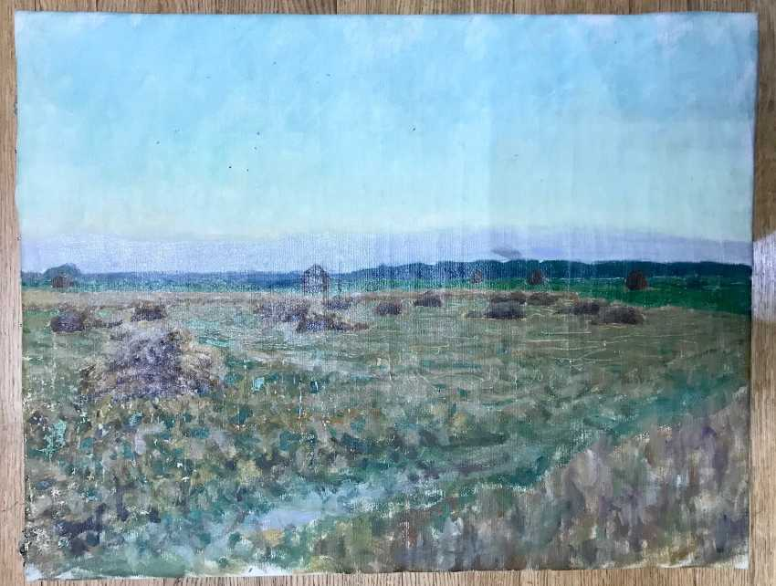 """Azgur (Gorelova) G. G. """"Time of harvest"""", 1954 - photo 3"""
