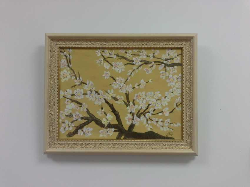 """Olga Gorshkova. Olga Gorshkova """"Flowering branch of almond"""" - photo 1"""
