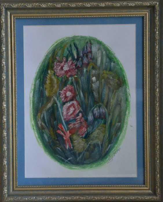 """Olga Gorshkova. Olga Gorshkova """"flowers in the oval"""" ( watercolor) - photo 1"""