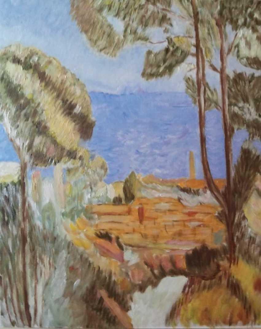 """Olga Gorshkova. Olga Gorshkova """"sea"""" (the cypress and the sea) - photo 1"""
