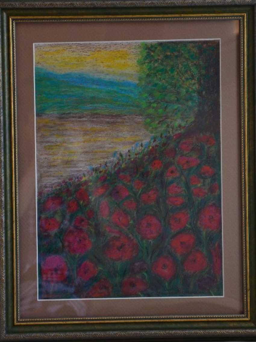 """Olga Gorshkova. Olga Gorshkova """"Poppies by the river"""" - photo 1"""