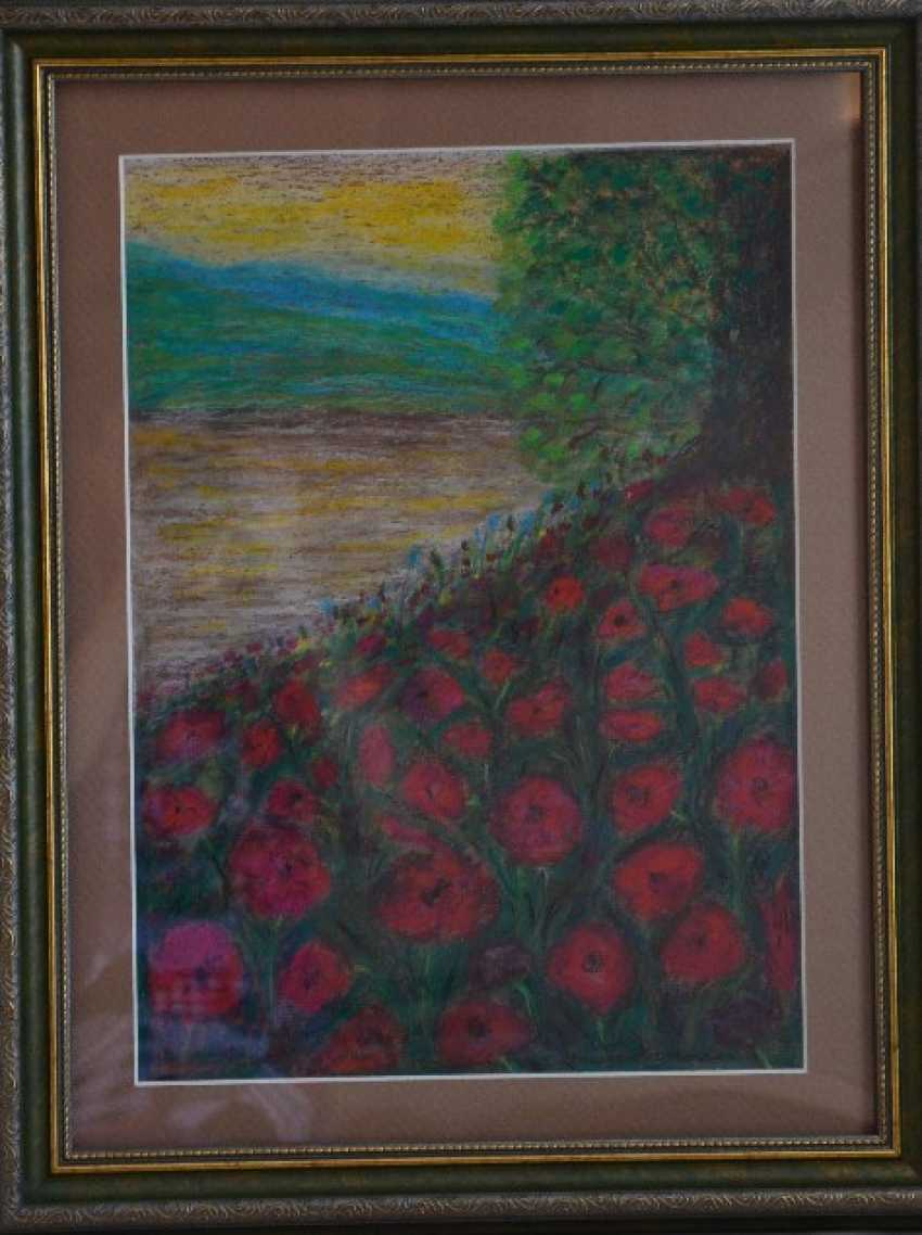 "Olga Gorshkova. Olga Gorshkova ""Poppies by the river"" - photo 1"