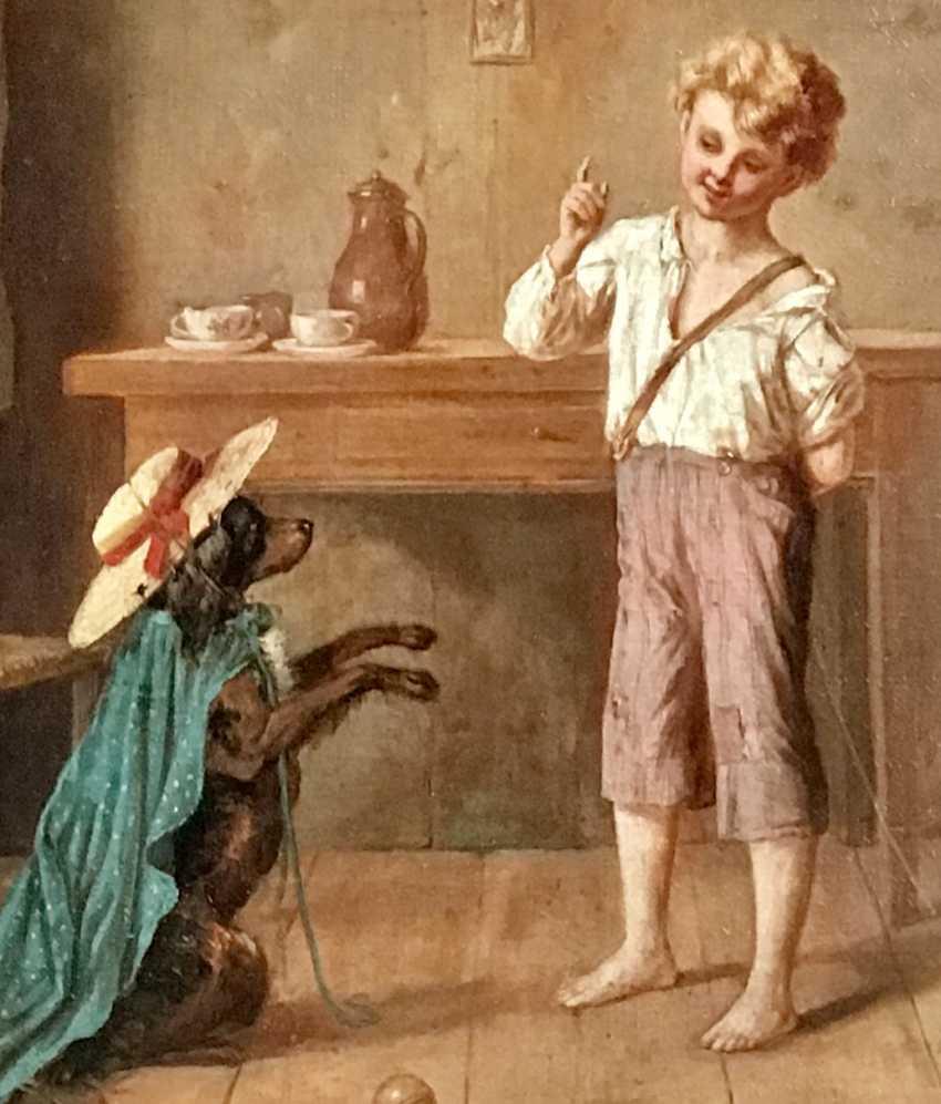 "Hermann Pistor ""Young trainer"", XIX century - photo 5"