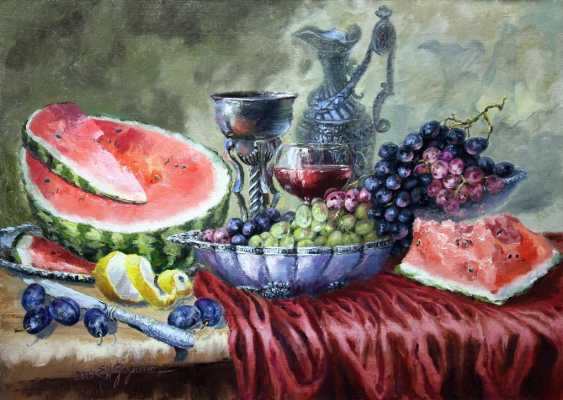 Elena Zorina. Still life with plums - photo 1