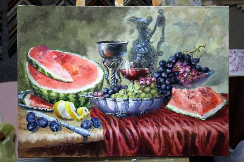 Elena Zorina. Still life with plums - photo 2