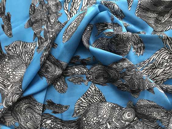 "Irina Ternovskaya. Scarf, silk, collection of ""TIC TAC toe"" - photo 1"