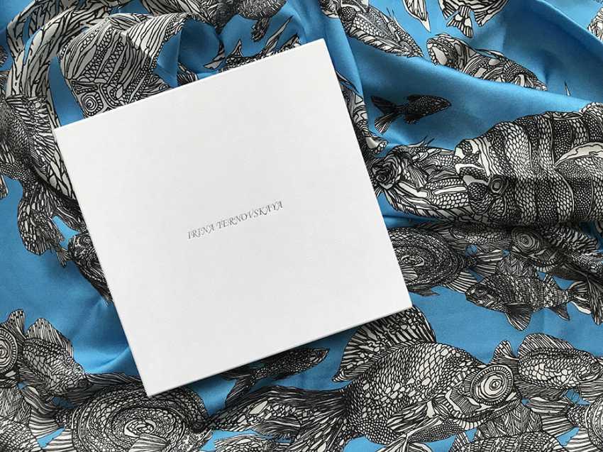 "Irina Ternovskaya. Scarf, silk, collection of ""TIC TAC toe"" - photo 2"