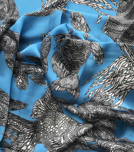 "Irina Ternovskaya. Scarf, silk, collection of ""TIC TAC toe"" - photo 3"