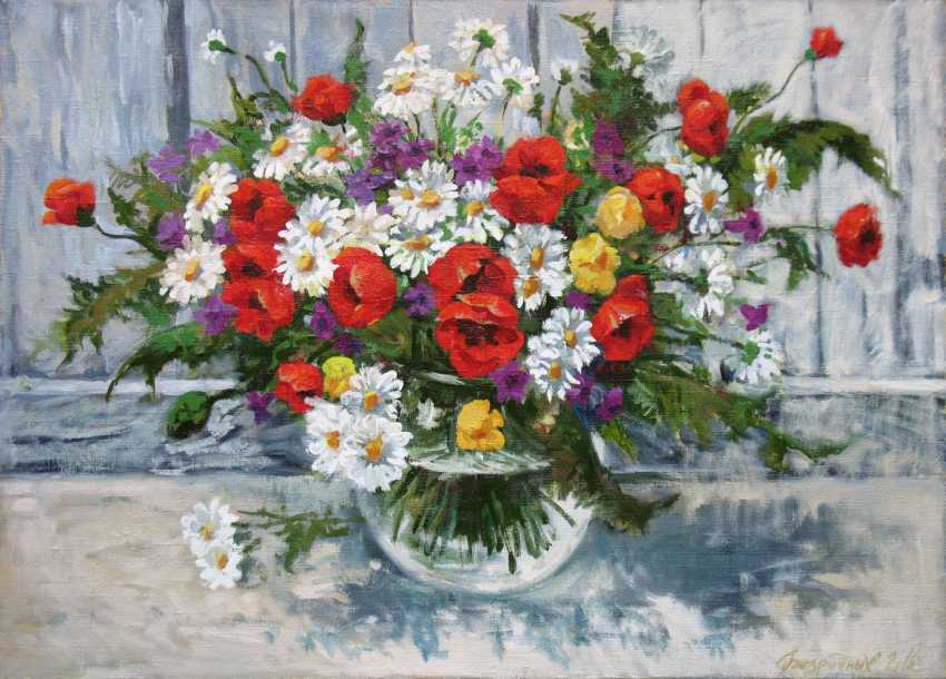 Alexander Bezrodnykh. daisies and poppies - photo 1