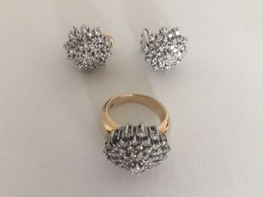 Diamond Ring and earrings - photo 1