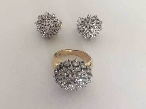 Diamond Ring and earrings - photo 2