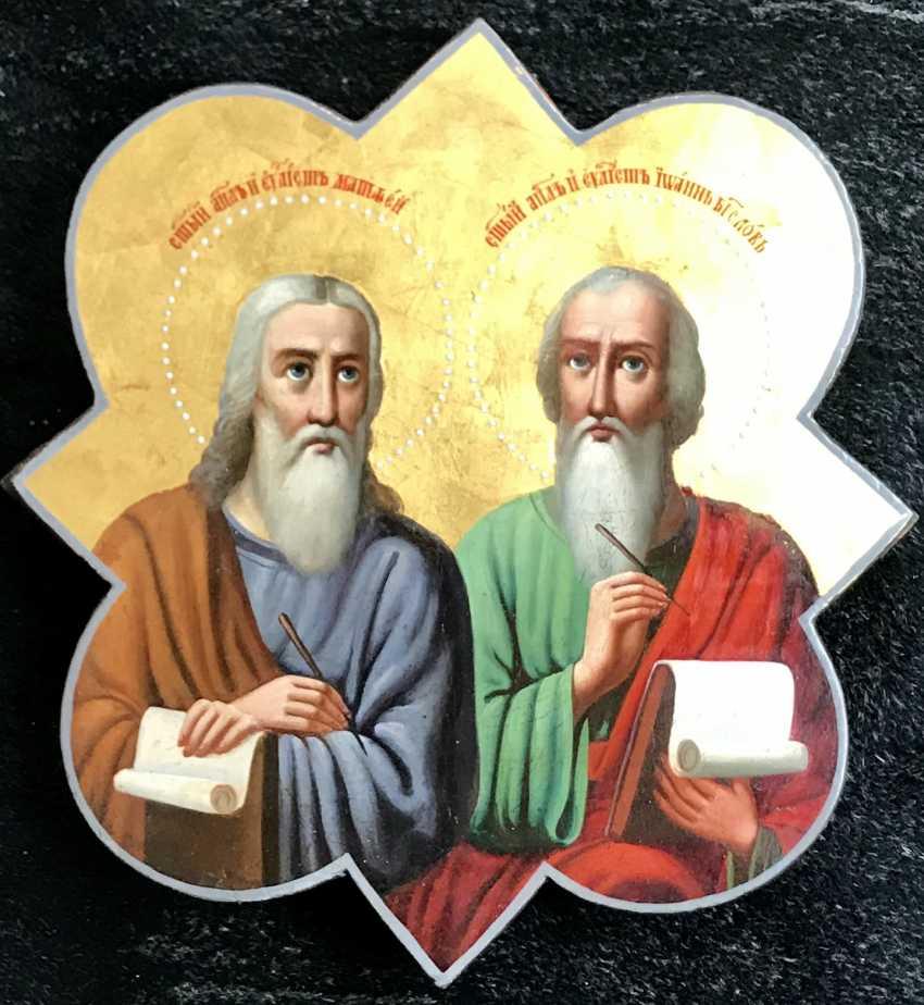 """The Holy apostles Matthew Levi and John the Evangelist"". Moscow, XIX century - photo 2"
