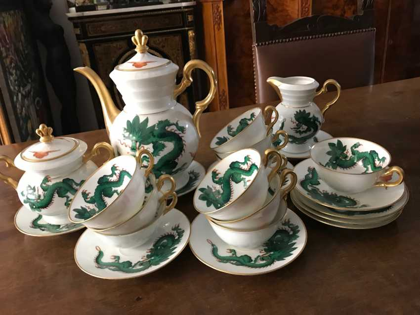The service tea and coffee in Chinese style. Belgium, early twentieth century. - photo 5