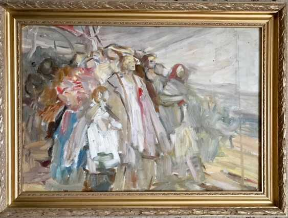 """Horoszewicz, K. I. a sketch for the painting """"Riot in the village,"""" the twentieth century. - photo 1"""