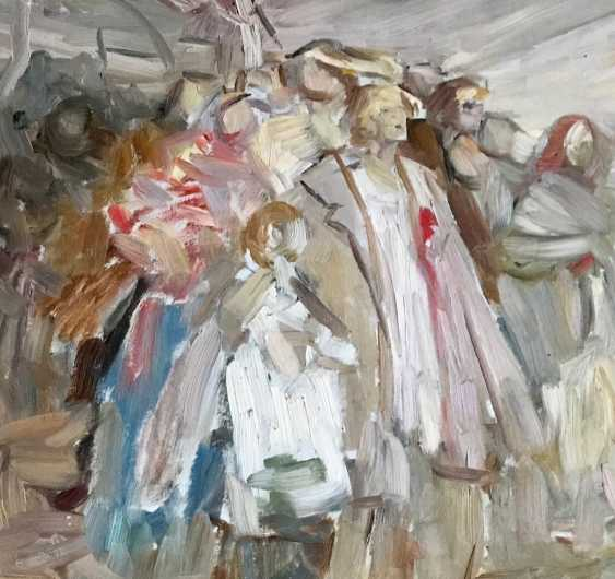 """Horoszewicz, K. I. a sketch for the painting """"Riot in the village,"""" the twentieth century. - photo 2"""