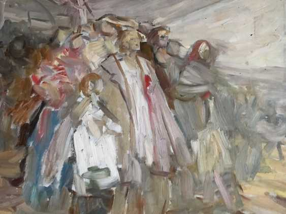"""Horoszewicz, K. I. a sketch for the painting """"Riot in the village,"""" the twentieth century. - photo 3"""