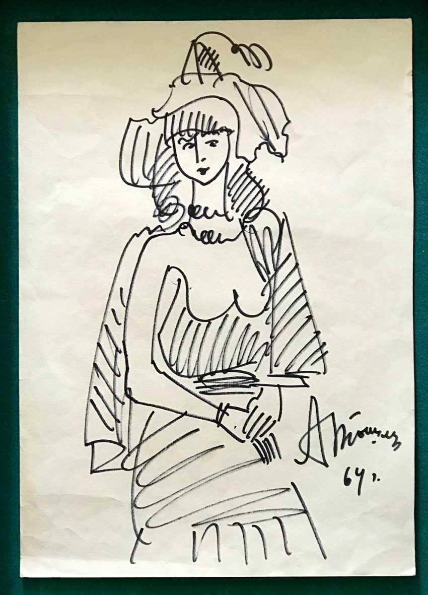 Tyshler A. G. Painting, 1964 - photo 2