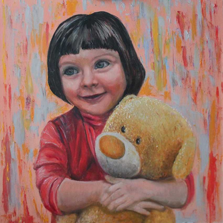 Lada Bullo. The girl with the bear/Girl with a bear - photo 1