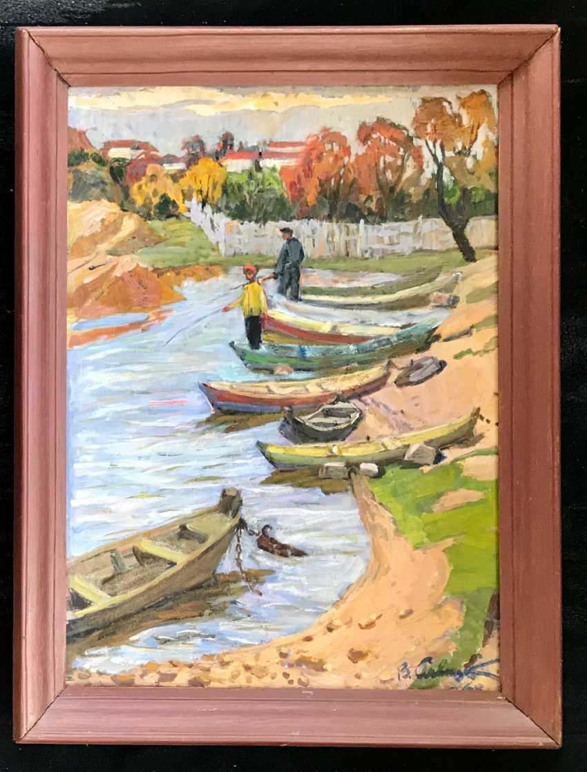 "Savitsky V. N. ""Boat dock"", 1968 - photo 3"