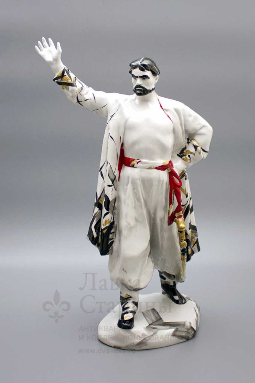 "The statuette ""Stepan Razin"", porcelain, LFZ, the sculptor E. P. Krupin, 1960-ies - photo 1"