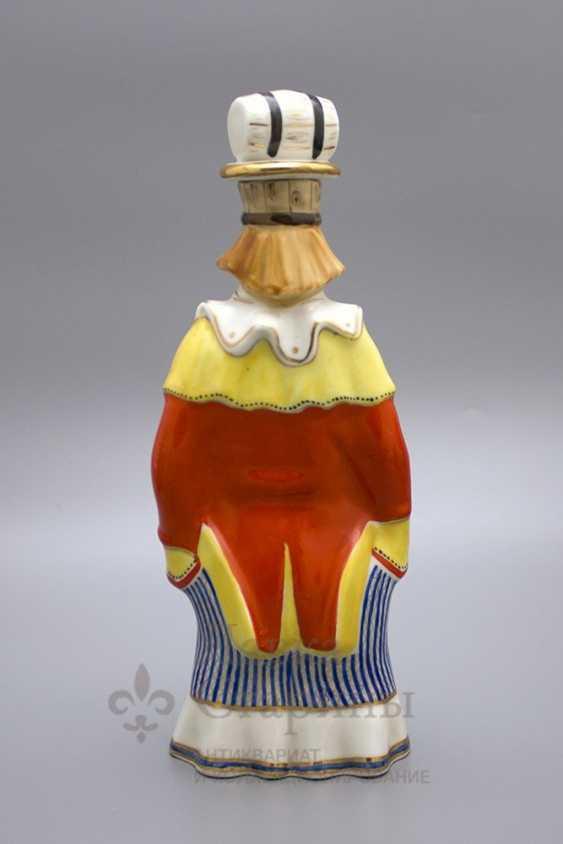 "Shtof-bottle ""happy clown"", ZFA Verbilki porcelain, 1950s, sculptor S. M. Orlov - photo 3"