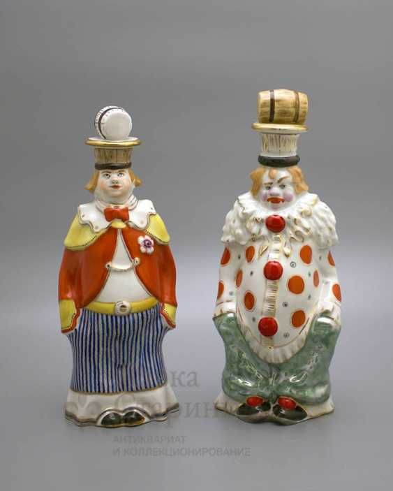 "Shtof-bottle ""happy clown"", ZFA Verbilki porcelain, 1950s, sculptor S. M. Orlov - photo 6"