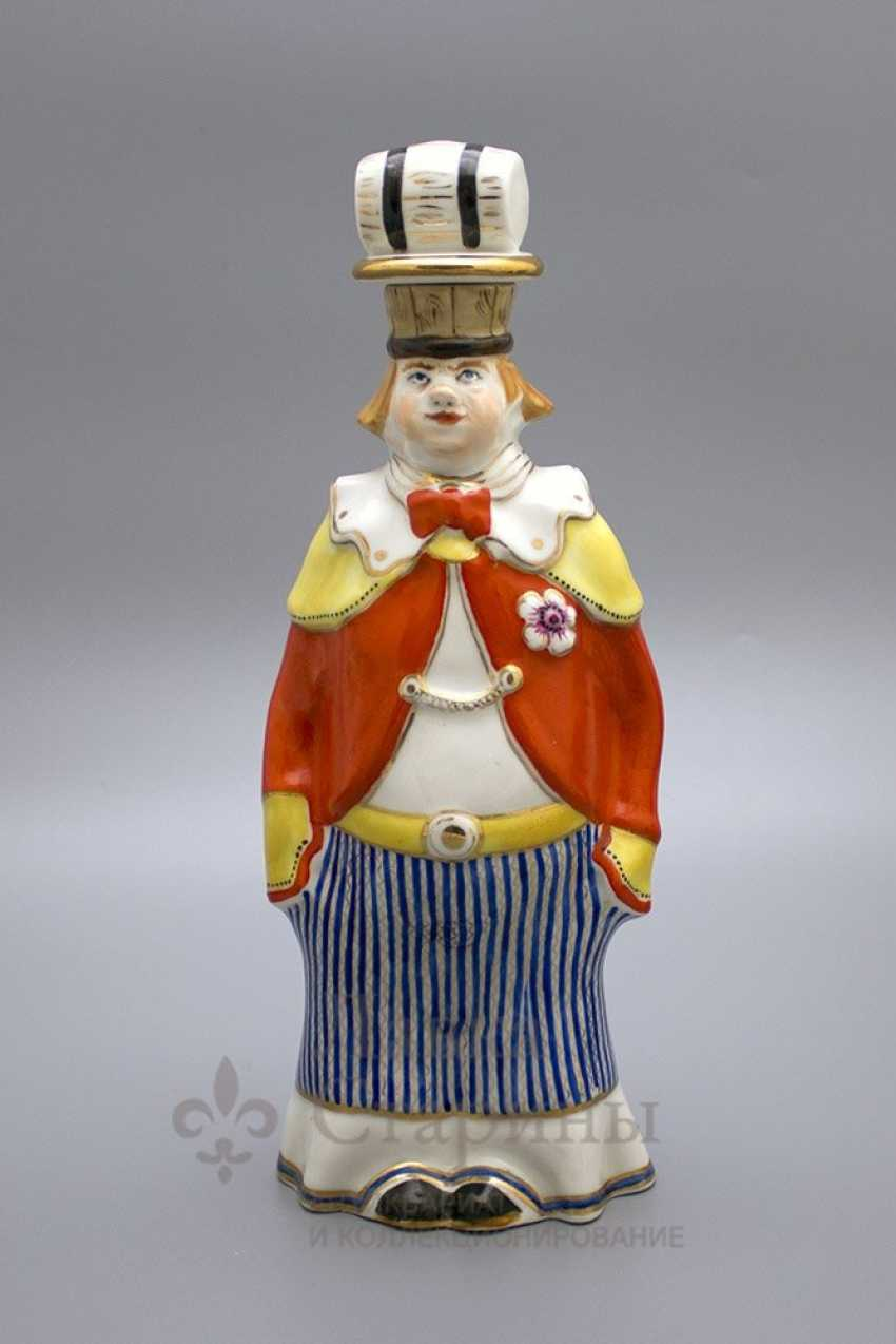 "Shtof-bottle ""happy clown"", ZFA Verbilki porcelain, 1950s, sculptor S. M. Orlov - photo 1"