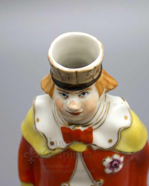 "Shtof-bottle ""happy clown"", ZFA Verbilki porcelain, 1950s, sculptor S. M. Orlov - photo 4"