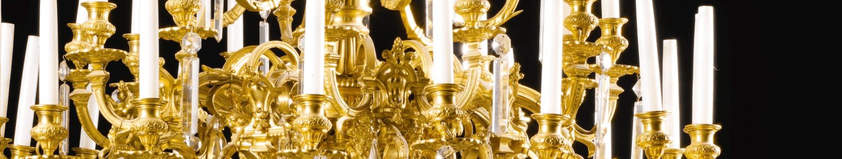 антикварные люстры из бронзы