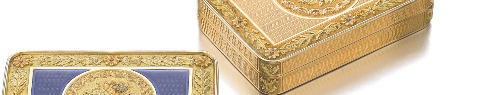 Antique caskets