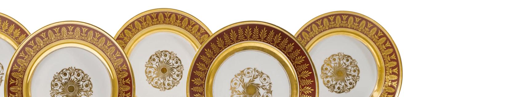 Антикварные фарфоровые тарелки