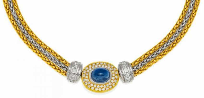 SAPPHIRE AND DIAMOND NECKLACE. Germany, 2000. - photo 1