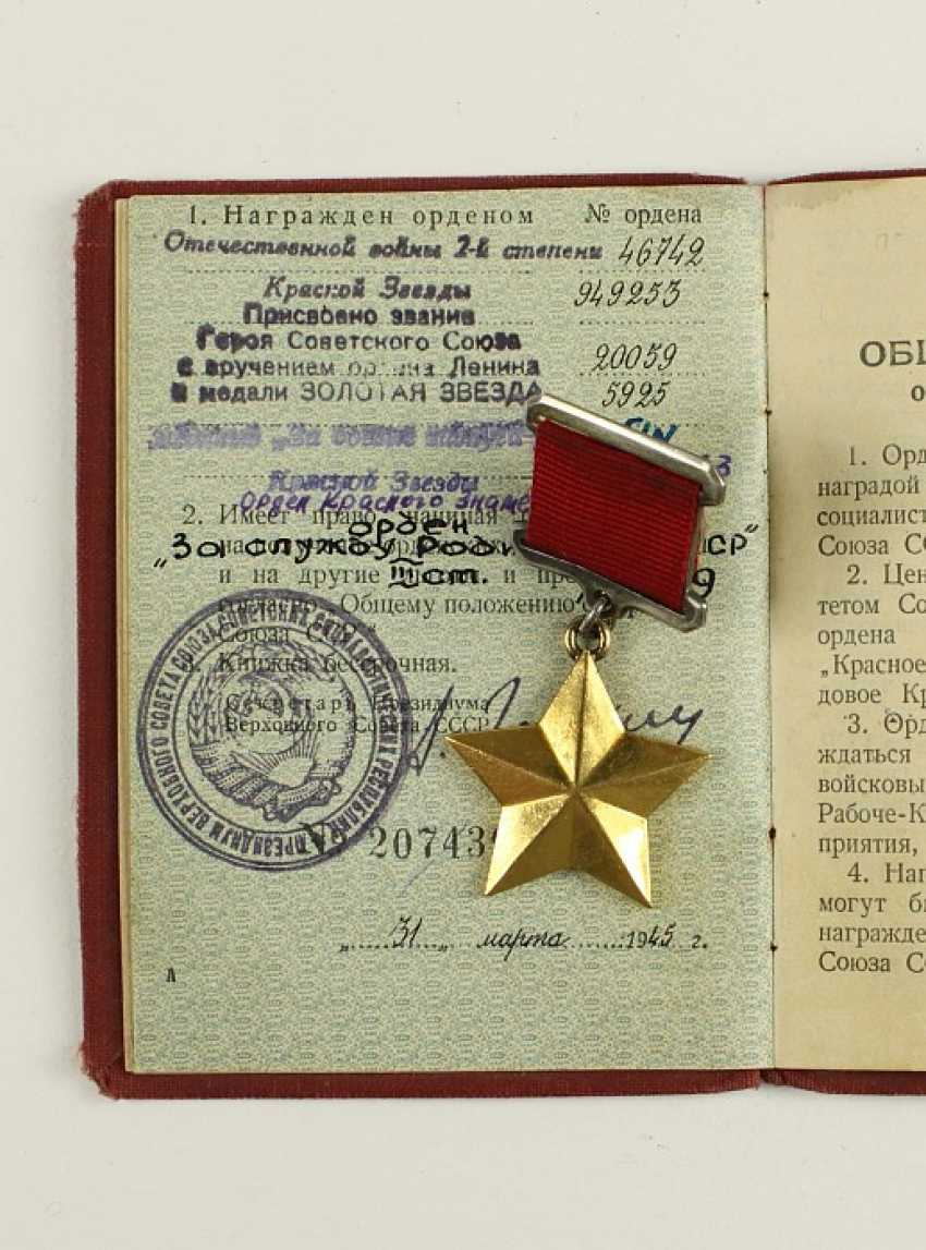 The title of Hero of the Soviet Union was awarded posthumously to General Karbyshev (28 fe 74