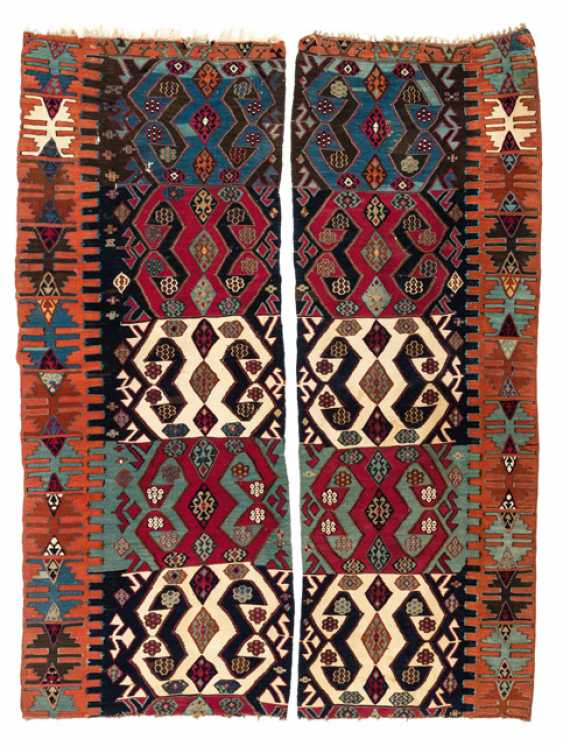 Two fragments of a slit kilims - photo 1